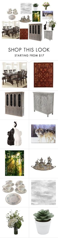 """Dining room"" by monique-anne-cook on Polyvore featuring interior, interiors, interior design, home, home decor, interior decorating, Howard Elliott, Wedgwood, Abigail Ahern and M&Co"