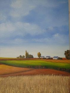 The Farm by Marius Prinsloo Farm Paintings, Paint And Sip, Lost Soul, Diy Canvas, Abstract Landscape, Mixed Media Art, Painting Inspiration, Collage Art, Fields