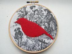 Bird silhoutte  Hoop Art by HERTrinkets on Etsy, $12.00