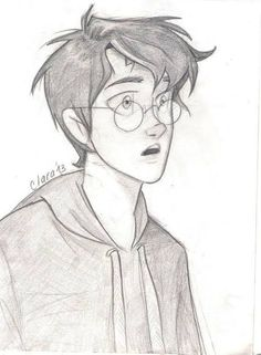 Harry by hatepotion art harry potter sketch, harry potter fa Harry Potter Sketch, Harry Potter Drawings, Harry Potter Fan Art, James Potter, Art Drawings Sketches Simple, Cute Drawings, Disney Drawings, Cartoon Drawings, Desenhos Harry Potter