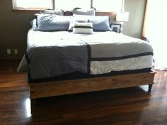 King Size Platform Bed | Do It Yourself Home Projects from Ana White