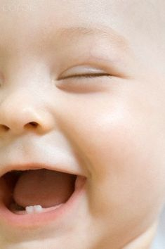 Baby laughter and baby teeth!
