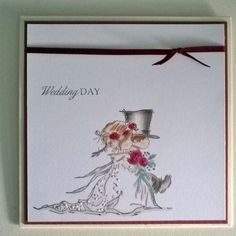 Lili of the valley(lotv) Handmade ,cute wedding Card.