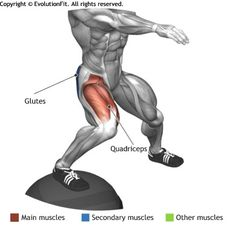 QUADRICEPS -  SIDE SPLIT SQUAT ON BOSU