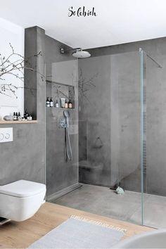 Bad Inspiration, Bathroom Inspiration, Small Bathroom, Master Bathroom, Bathroom Modern, Bathroom Grey, Small Hall, Modern Shower, Bathroom Design Luxury