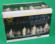 Catawiki Online-Auktionshaus: Great Voices of the Opera : Box Set including 40 cd's of the opera, the tenors and sopranos Die Sopranos, The Voice, Opera, Box, Snare Drum, Opera House, Boxes