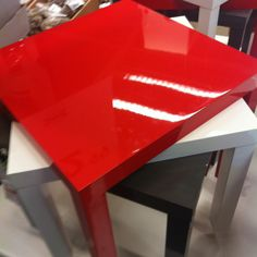 Red Lacquer Table from IKEA