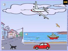Si alguna vez te has preguntado qué hay en el cielo, en el mar o en la carretera, este es tu material. Aprende los medios de transporte con tu Pizarra Digital.