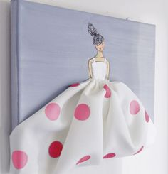 canvas for little girl room make this out of the outfit she wore home from hospital