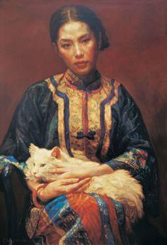Chinese artist Chen Yifei 陈逸飞(1946 - 2005)