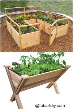 Raised Garden Beds Projects=> www.fabartdiy.com... #Gardening, #woodworking