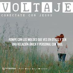 Rompe con los moldes que ves en otros y ten una relación única y personal con Dios. #ConéctateConJesús http://devocional.casaroca.org/jv/24jun