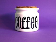 TG Green Spectrum Coffee Canister with Cork Lid  by FunkyKoala