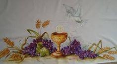 riscos para pintura em toalhas de altar - Pesquisa Google