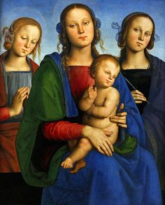 Pietro Perugino (Pietro Vannucci, ca 1446-1523), Mary with Child and Two Saints, ca 1494, 87 x 63 cm, oil on wood.