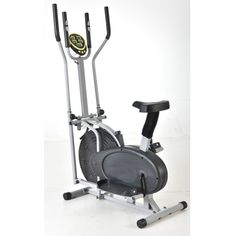 """FCH Upgraded Model 2 IN 1 Elliptical Bike Cross Trainer Exercise Fitness Machine. 2 In 1 : This ready to assemble elliptical provides an innovative design that propels the motions of an elliptical cross trainer and a bike. Monitor via the on-board LCD display your time, distance, speed, and calorie count throughout your total body workout. It supports up to 250lbs bearing. Material: Steel Color: Black & Silver. Dimensions: (37 x 24.21 x 59.45)"""" / (L x W x H). Digital Monitor Function…"""