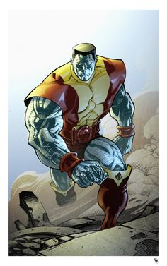 Colossus by Chris Stevens, Color by Simon Gough Marvel Comic Character, Comic Book Characters, Marvel Characters, Comic Books Art, Comic Art, Book Art, Fictional Characters, Marvel Dc Comics, Marvel Heroes