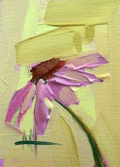 Cone Flower no. 8 original flower oil painting Angela Moulton ACEO Art…