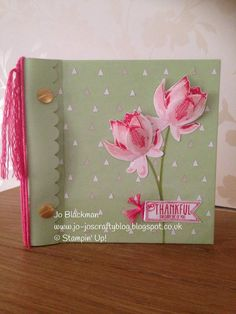 Lotus Blossom from the new Sale-a-Bration catty 2015 #SU2015inspiration