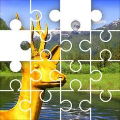 Golden Deer Jigsaw Puzzle, 48 Piece Classic.