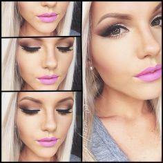 labios rosa ! debes arriesgarte y juega con las sobras para dar forma a tu rostro y tu nariz