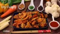 Veg Crispy Veg Crispy is a choice of mixed vegetables ranging from baby corn, capsicum, cauliflower, and carrots to anything . Crispy Baby Corn Recipe, Baby Corn Recipes, Spicy Recipes, Indian Food Recipes, Vegetarian Recipes, Cooking Recipes, Veg Cutlet Recipes, Cutlets Recipes, Veg Crispy