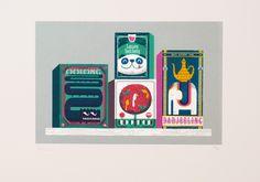 This is such a cute print.   Print Club London | shop | tea_box_zoo