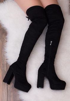 Buy & sell new, pre-owned & vintage fashion Goth Shoes, Cute Shoes Heels, Pretty Shoes, Fashion Heels, Fashion Boots, Sneakers Fashion, Teen Fashion Outfits, Mode Outfits, Cute Boots