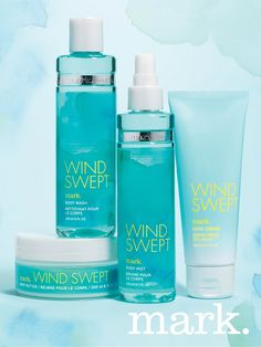 Feel the breeze and let your spirit soar with the NEW mark. Windswept Collection. An exhilarating mix of sparkling grapefruit, orchid essence and cedar wood. #AvonRep
