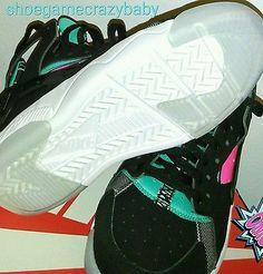 new concept ec469 b9099 Nike Air Flight Huarache Black Pink GS size 7y retro Retro Sneakers,  Sneakers Nike,