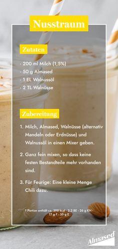 Power-Shake: Mandeln und Haselnüsse enthalten wie dein Almased-Shake die wertvollen Spurenelemente Zink, Kupfer und Mangan. Walnusskerne versorgen dich darüber hinaus bestens mit den wichtigen Omega-3-Fettsäuren. 🙌 #almased #fragalma #gesundabnehmen #ernährungsumstellung #proteinshake