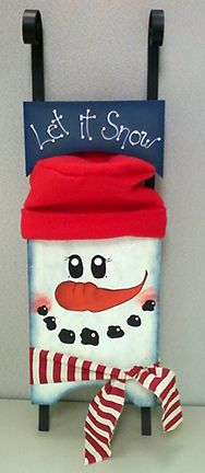 This snowman was fun and easy to paint. Just an idea i had. Large Snowman Sled from www.ArtistsClub.com