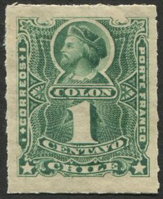 Chile Scott #37 (issued 1894) Christopher Columbus