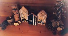 Handbemalte Holzhäuser als Dekoration für die Bauernstube im Hotel Tirolerhof Painting, Decorations, House, Paintings, Draw, Drawings