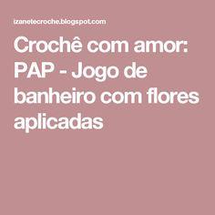 Crochê com amor: PAP -  Jogo de banheiro com flores aplicadas Granny Squares, Crochet Pillow, Applique Quilts, Bathroom Mat, Crochet Carpet, Crocheting Patterns, Bathroom Sets, Crocheting, Tejidos
