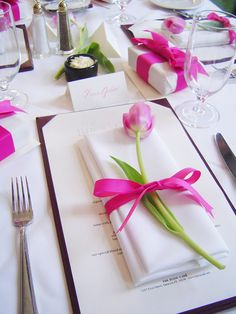 Spring shower table setting