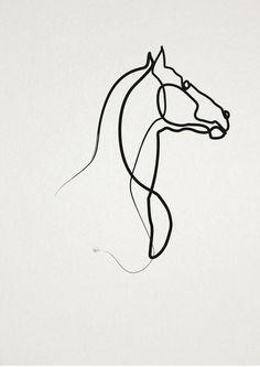 online Horse 0301 Art Print