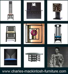 The Hill House Chair is one of the most famous design furniture designs by Charles Rennie Mackintosh. Other Bauhaus furniture or design classics are the chair willow 1, the argyle chair, the dining table as well as the chairs ds3 and ds4.