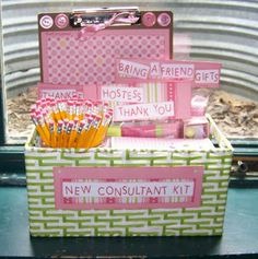 new consultant kit- awesome. Could also be adjusted to make gifts for moms/teachers