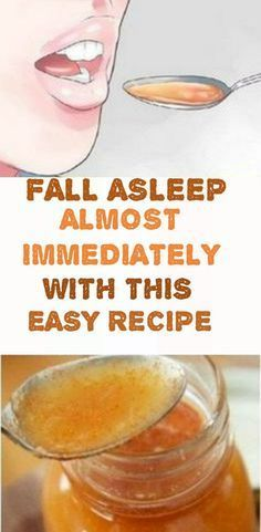 fall asleep almost immediately with this easy recipe