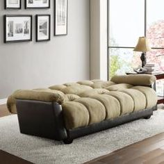 multifunctional: The Bento Klic Klac peat microfiber futon sofa bed