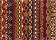 """Graphic and novel rugs - add color pizzaz and style - Ornament, 7'0"""" x 10'0"""""""