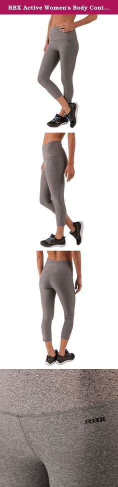 RBX Active Women's Body Contouring High Waisted Crop Capri Compression Leggings. Fitted capri length high waisted leggings constructed for support and performance enhancing coverage. A tight compression fit that hugs your figure adds safety while providing a full range of motion. These body contouring capris are prepared to push your limits.