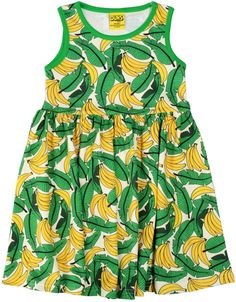 8b9681ef Lime Bananas Sleeveless Dress with Gather Skirt in GOTS Certified Organic  Cotton from DUNS Sweden –. Modern Rascals