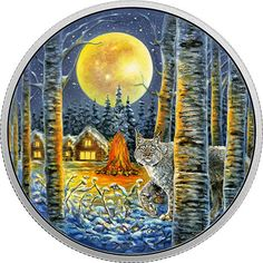 Buy Now: http://goccf.com/rcm/itm/prod2920130  RCM New Release: 2017 2 oz. Pure Silver Glow-In-The-Dark Coin - Animals in the Moonlight: Lynx - Coin Community Forum