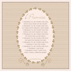 I Promise - Wedding Poem by Ms Moem Wedding Poems, Romantic Wedding Vows, Wedding Cards, Our Wedding, Marriage Poems, Wedding Ceremony Readings, Mothers Day Poems, Piece Of Me, Medieval Wedding