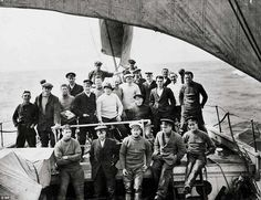 Setting out: Crew of the Endurance poses for a group portrait in 1915, early in their expedition to Antarctica to cross the continent on foot