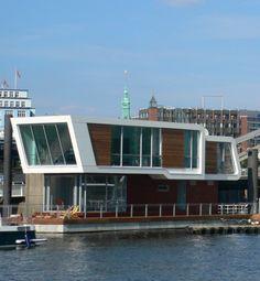 houseboat in Hamburg, Germany