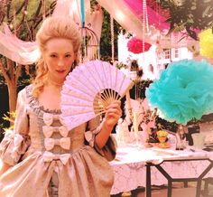 """""""Yesterday my gal pals and I had a Tea party. The sole purpose was to get dressed up like Marie Antoinette, eat cake, and drink champagne..."""" - candice accola, my kind of party."""