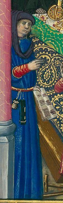 « Le Livre des faiz monseigneur saint Loys », composé à la requête du « cardinal de Bourbon » et de la « duchesse de Bourbonnois ».  Date d'édition : 1401-1500  Français 2829 folio 109v